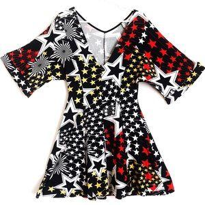 ASOS Dresses - ASOS Edgy Shooting Stars Skater Flare Dress Sz 8